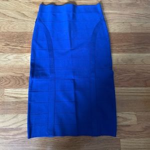 Royal blue high waisted Bebe midi skirt